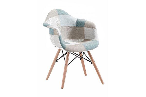 Кресло МИК Мебель Mobil MK-4330-BL Пэчворк голубой