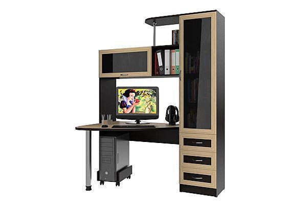 Стеклянный компьютерный стол Мебельный двор С-Бонус-2
