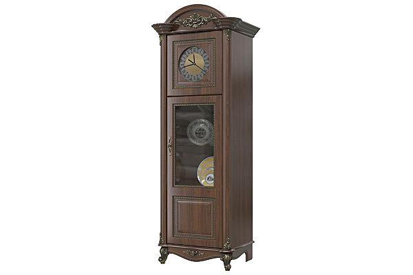 Шкаф с часами Мэри-Мебель Да Винчи ГД-08