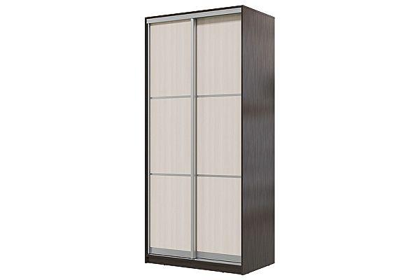 Шкаф-купе Мэри-Мебель Мэри Де-Люкс 1000 2-х дверный, цвет дуб венге/двери № 1