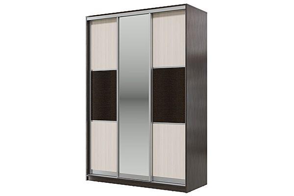 Шкаф-купе Мэри-Мебель Мэри Де-Люкс 1500 3-х дверный, цвет дуб венге/двери № 6