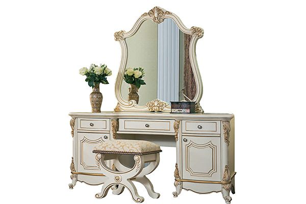 Туалетный стол Юг-Мебель Мона Лиза с пуфиком и зеркалом