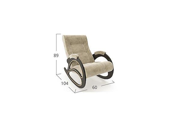 Кресло-качалка Moon Trade 4 Verona Модель 364, бежевый-венге