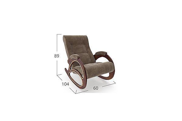 Кресло-качалка Moon Trade 4 Verona Модель 364, коричневый-орех