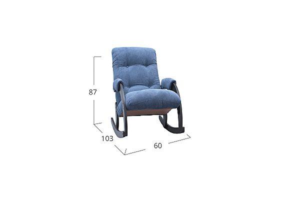 Кресло-качалка Moon Trade 67 Verona Модель 364, синий-венге