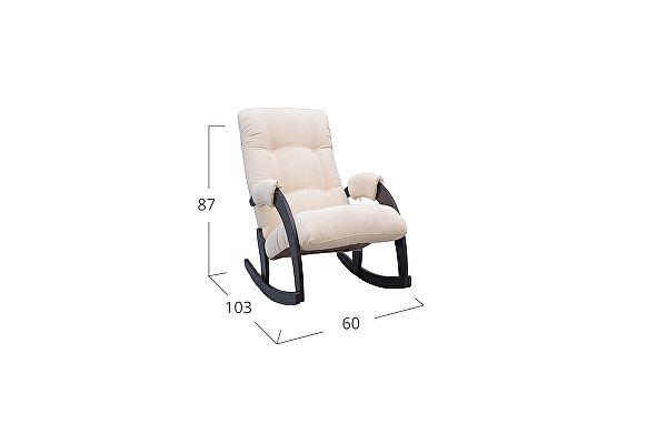 Кресло-качалка Moon Trade 67 Verona Модель 364, бежевый-венге