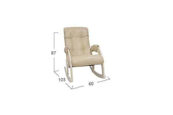 Кресло-качалка Moon Trade 67 Polaris Модель 364, бежевый-дуб шампань