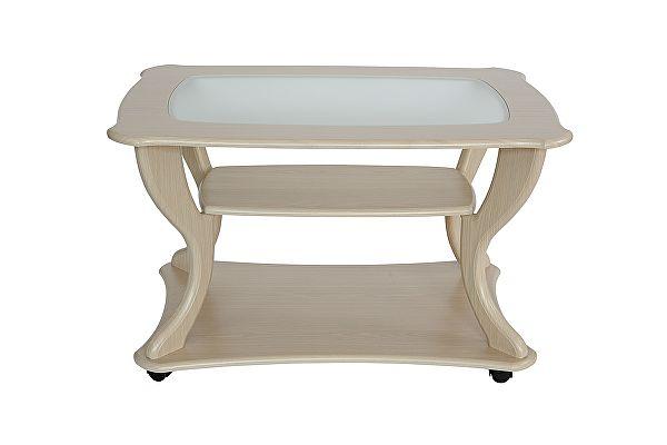Стеклянный журнальный столик Калифорния Маэстро со стеклом СЖС-02