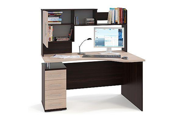 Угловой компьютерный стол Сокол КСТ-104.1 + КН-14