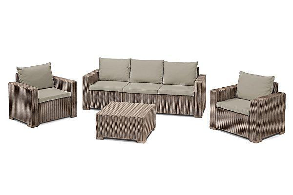 Комплект плетеной мебели Keter CALIFORNIA 3 SEATER SET 17198931