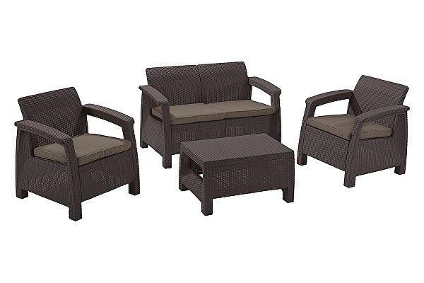 Комплект плетеной мебели Keter Corfu set 17197361