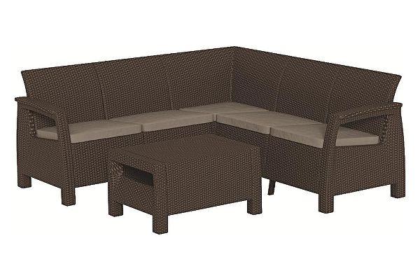 Комплект плетеной мебели Keter Corfu Relax set 17202123
