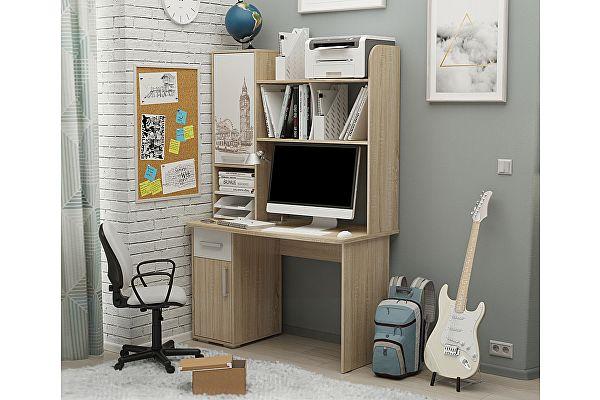 Компьютерный стол Мебельсон Лайт-1 1200 + Надстройка