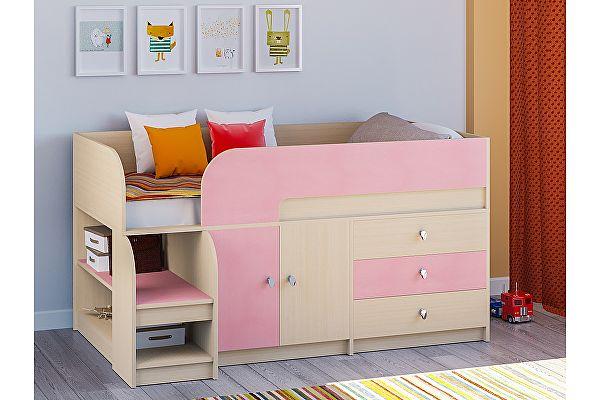 Кровать-чердак РВ Мебель Астра-9 Дуб молочный V1
