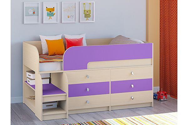 Кровать-чердак РВ Мебель Астра-9 Дуб молочный V3