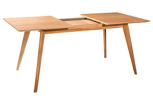 Обеденный стол раскладной R-Home Лунд натуральный бук, 120 см
