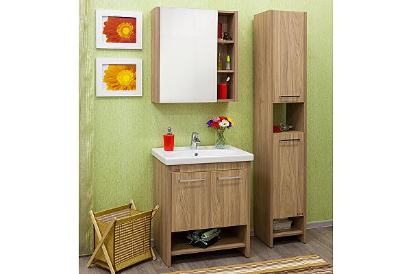 Мебель для ванной Sanflor Мехико 70 с пеналом (правый)
