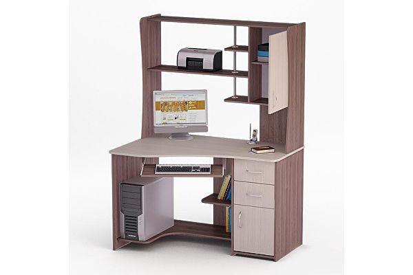 Компьютерный стол с надстройкой ВМФ Рональд-31