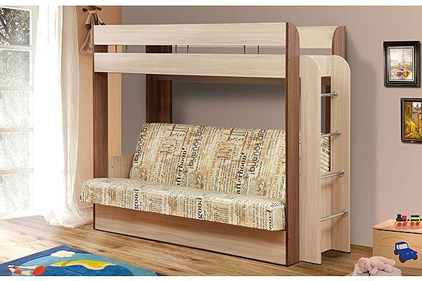 Кровать-чердак Олимп-Мебель с диван-кроватью Немо