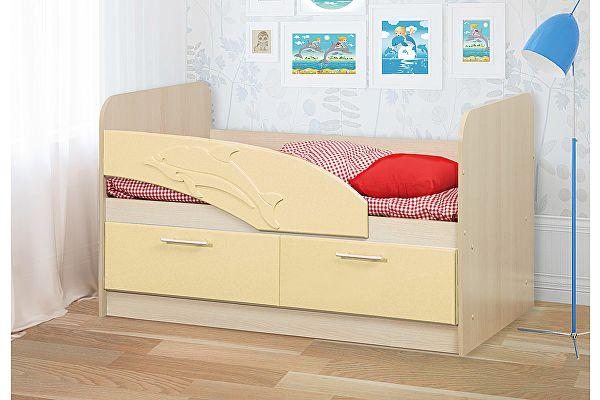Детская кровать Олимп-Мебель Дельфин МДФ 1,4 м