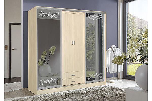 Четырехдверный шкаф-купе Мебель Маркет Лорд 1.2 (Дуб молочный)