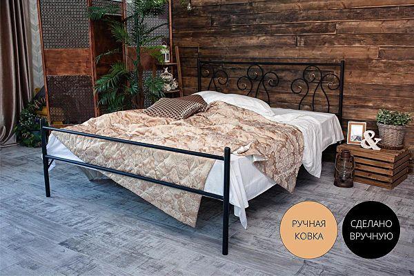 Кованая кровать Лацио 1.8 с одной спинкой