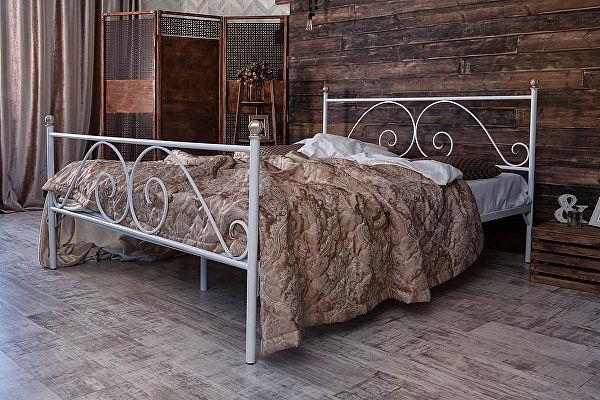 Кованая кровать Francesco Rossi Анталия 1.4 с двумя спинками