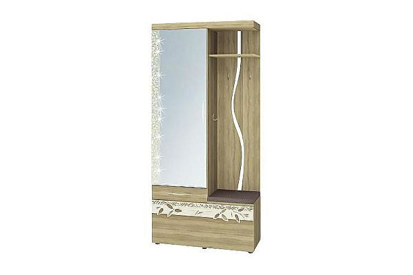 Панель Витра Ассоль 46.07 с крючками комбинированная с зеркалом