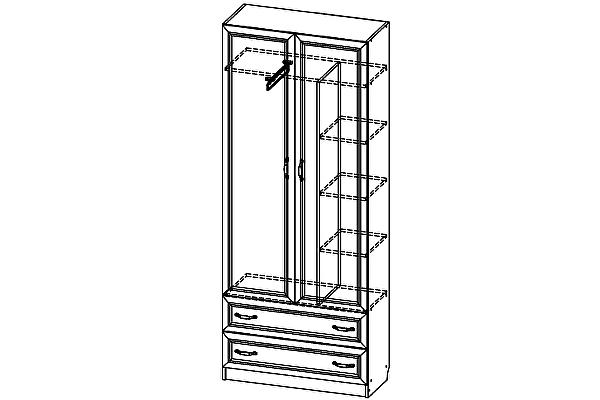 Шкаф двухстворчатый SV-мебель Вега ДМ-02