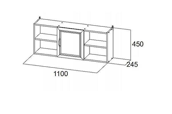 Полка навесная SV-мебель Вега ДМ-10 (1,1 м)
