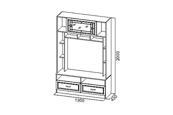 Тумба для телевидеоаппаратуры SV-мебель Вега ВМ-11