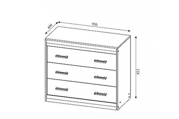 Комод SV-мебель Гамма-19