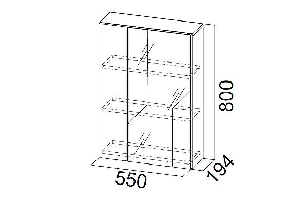 Шкаф с зеркалом SV-мебель Визит-1 (МДФ) (навесной)