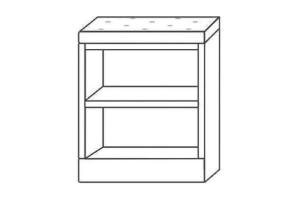 Тумба Мебель Холдинг Ждана 600 (мод.9), без дверей/мягкое сидение (утяжка пуговицами)