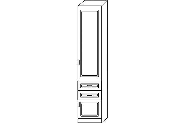 Колонка Мебель Холдинг Ждана 400Б (мод.25) 2 ящика