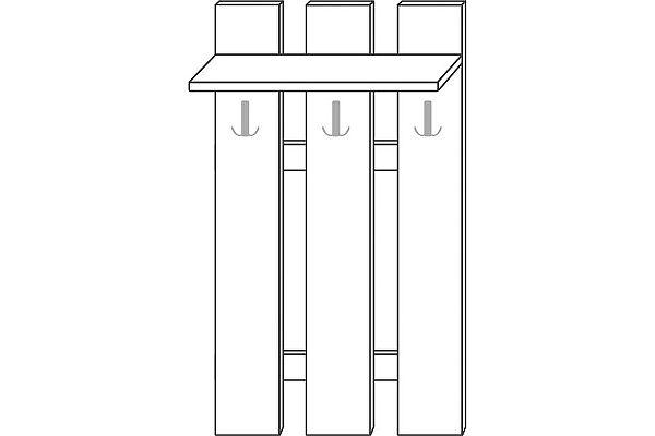 Панель Мебель Холдинг Ждана (мод.37) ЛДСП 3 крючка наборная 800/1630