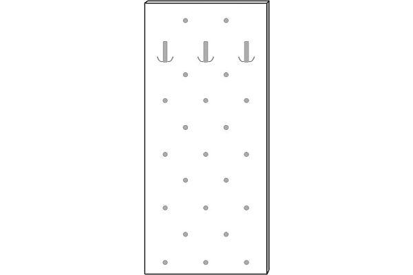Панель Мебель Холдинг Ждана 600 (мод.44) утяжка 3 крючка