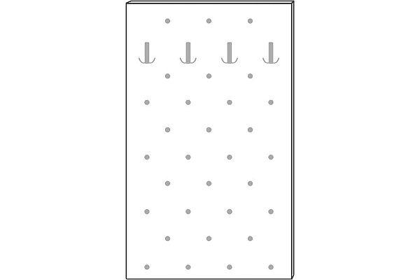 Панель Мебель Холдинг Ждана 800 (мод.45) утяжка 4 крючка