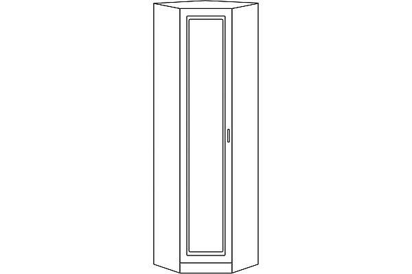 Шкаф-трапеция Мебель Холдинг Ждана 450П (мод. 46) 1-дверный равносторонний