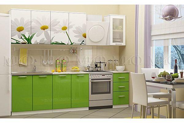 Кухня Миф Ромашки-2 2000 МДФ с фотопечатью