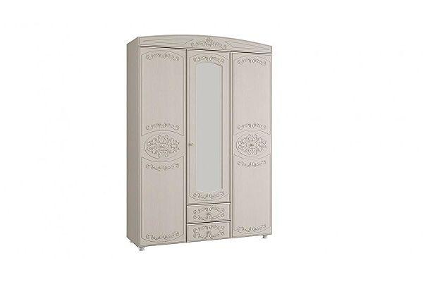 Шкаф 3-х дверный с зеркалом Олимп-Мебель Каролина