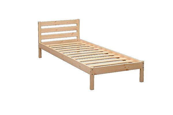 Кровать детская Аджио ЭКО-7 из массива с укороченной спинкой
