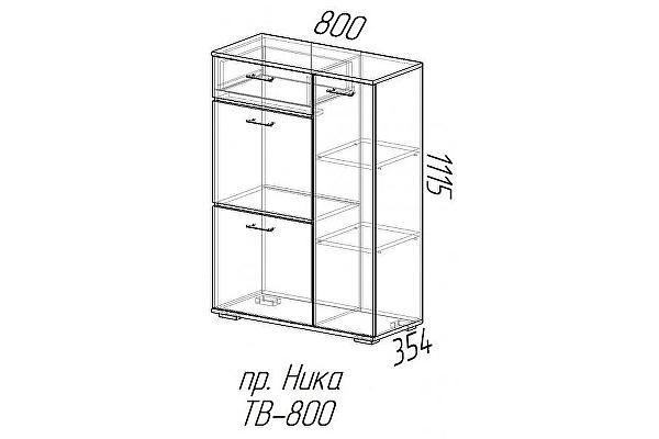 Тумба высокая Эра Ника (ТВ800)