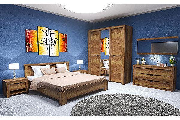 Спальня СБК Гарда (дуб галифакс табак) Комплект 1