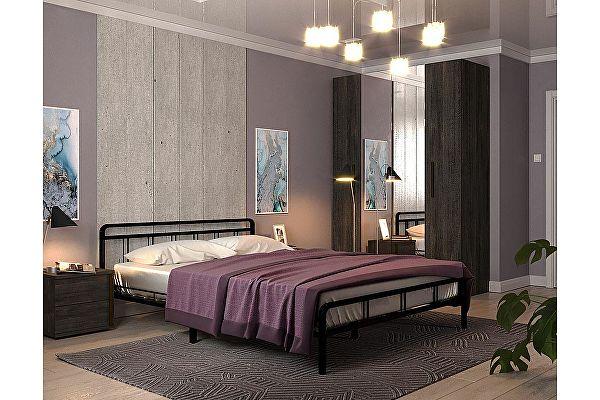 Кровать Rollmatratze Леон, черная
