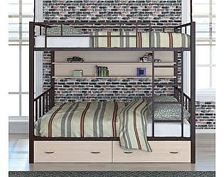 Купить кровать 4 Сезона Валенсия 120 (ящики, полка) двухъярусная