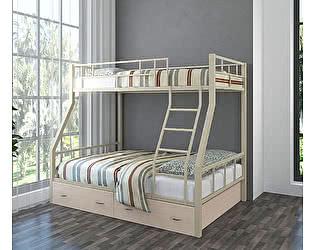 Купить кровать 4 Сезона Раута (ящики дуб молочный) двухъярусная