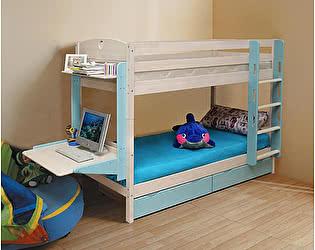 Купить кровать Боровичи-мебель Трансформер Массив c ящиками, двухъярусная