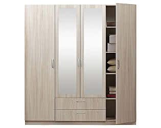 Купить шкаф Боровичи-мебель Эко 4-дверный с зеркалами, арт. 5.15