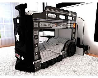 Купить кровать Red River машина Паровоз Люкс черный